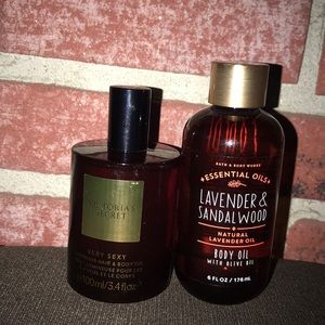 VICTORIA SECRET BODY/HAIR OIL: Bath & body works